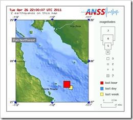 Earthquake Map Baja California